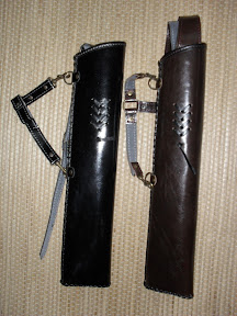 Shiny black and brown - Both for side and back combined quivers