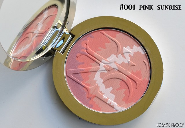 Dior Diorskin Nude Tan Tie Dye Blush in Pink Sunrise and Coral Sunset Swatch Review (1)