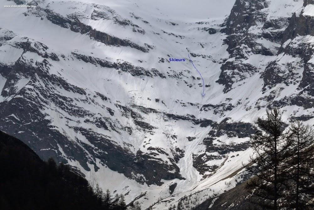 Avalanche Haute Maurienne, secteur Pointe du Charbonnel, La Grata de Charbonnel - Voie normale - Photo 1