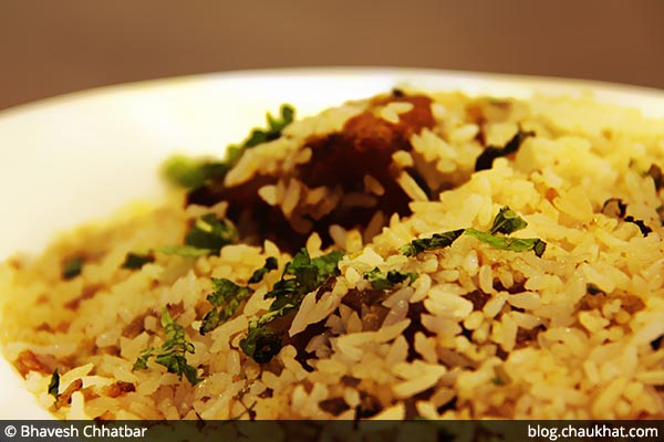 Close-up of Thalassery Meen Biriyani at Savya Rasa [Koregaon Park, Pune]