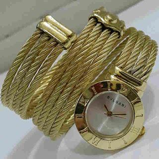 jam tangan Bvlgari lilit gold