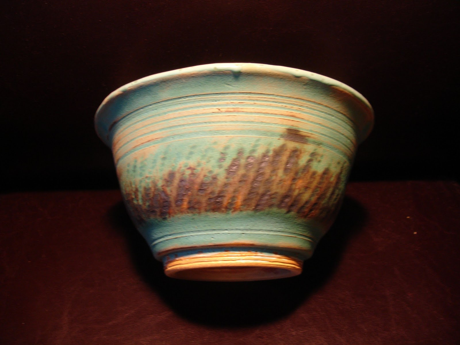 D Lo Pottery Large Bowl Wheel Thrown Oxidation Fired