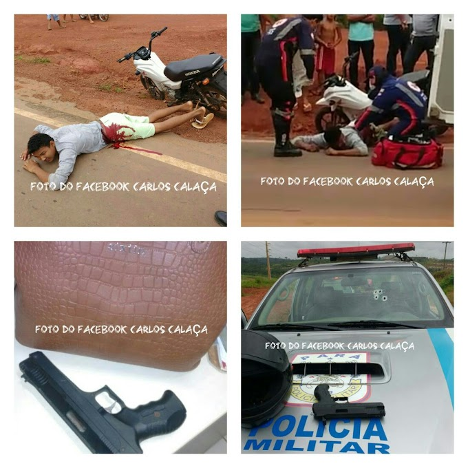 ALTAMIRA/PA: PERSEGUIÇÃO POLICIAL TERMINA COM UM SUSPEITO BALEADO NA TRANSAMAZÔNICA