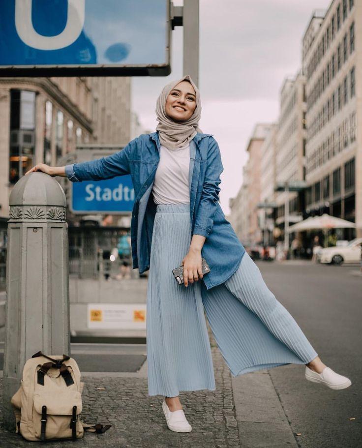 5. Busana Muslimah Celana Pararel