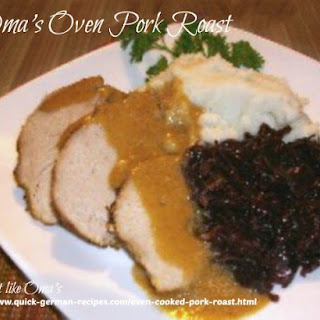 Oma's Oven Cooked Pork Roast