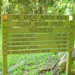 Cedar Brush Creek Trackhead sign (365771)