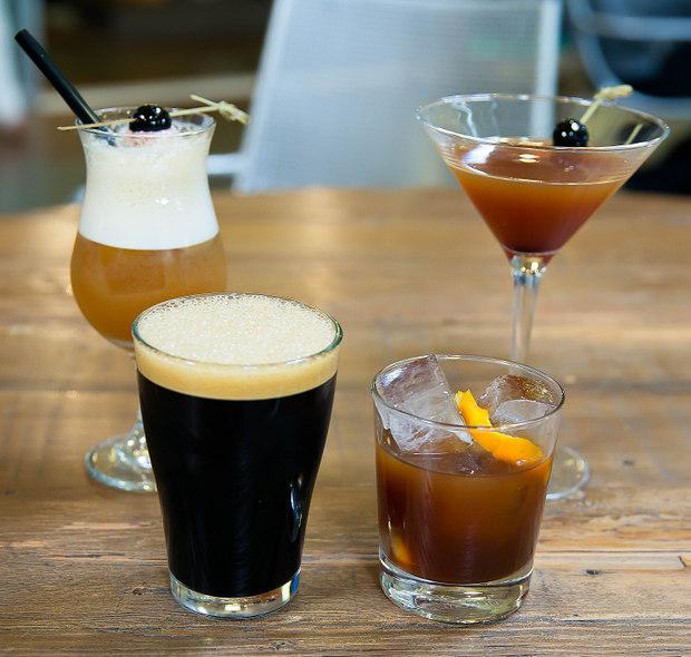 photo of four coffee drinks