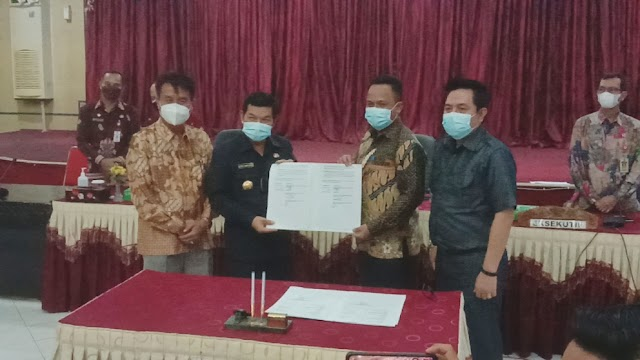 DPRD Bartim Terima Pendapat Akhir Kepala Daerah Atas Raperda Perubahan APBD 2021