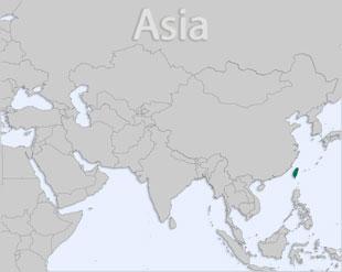 Taiwan location map