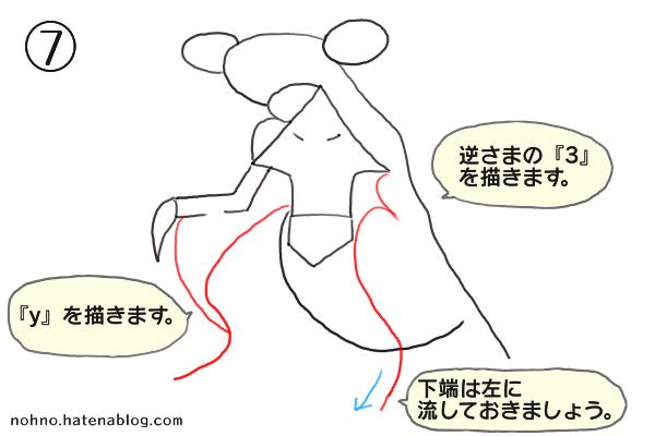 ガブリアスの描き方-ステップ7