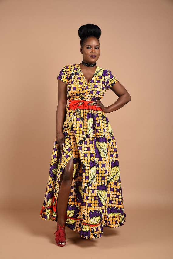 LATEST AFRICAN PRINT DRESSES FOR LADIES IN 2018 2