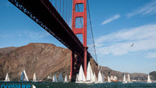 San Francisco's Golden Gate Bridge- during Three Bridge Fiasco regatta