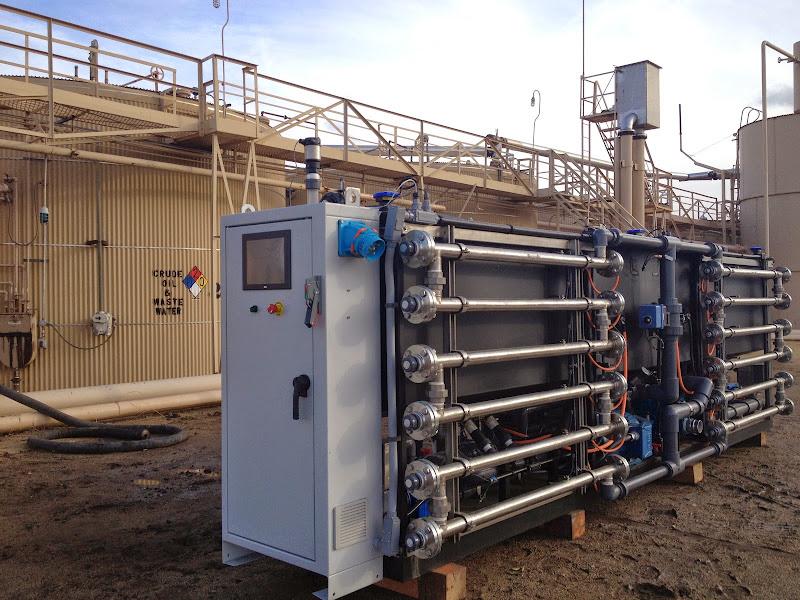EWS Prime P3000 at OriginClear's research site in California.