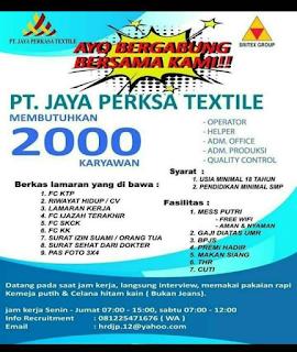 pt. jaya perkasa textile