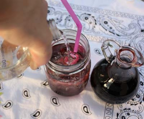 """To """"mix"""" your Shirley Temple….fill a glass with ice and then add 2/3 sparkling..."""