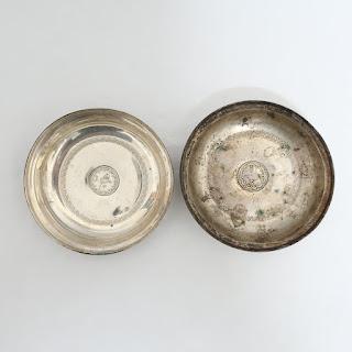 900 Sterling Arab Bowl Pair
