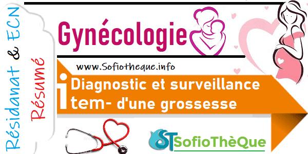 Cours PDF résumé : Diagnostic et surveillance d'une grossesse