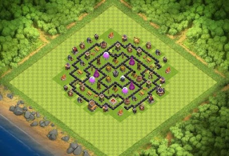 Maps COC TH 8 Farming Base - náhled