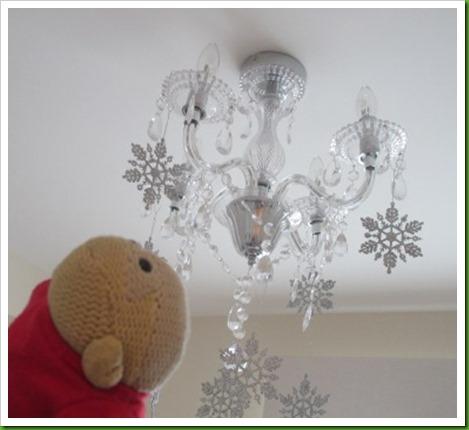 snowflake chandalier