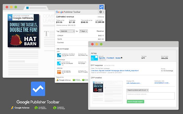 Google Publisher Toolbar chrome extension