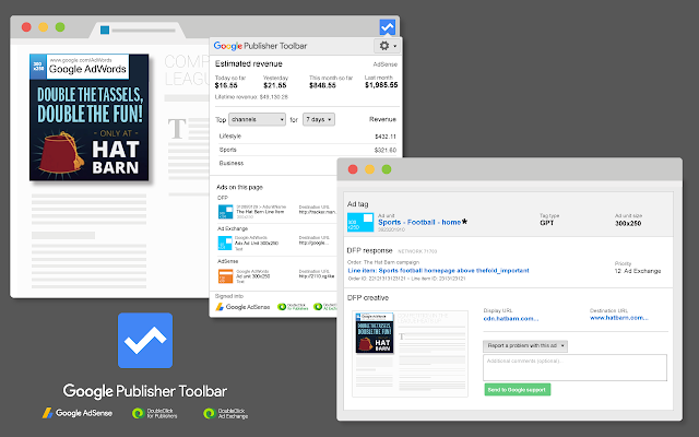 Google Publisher Toolbar Screenshot