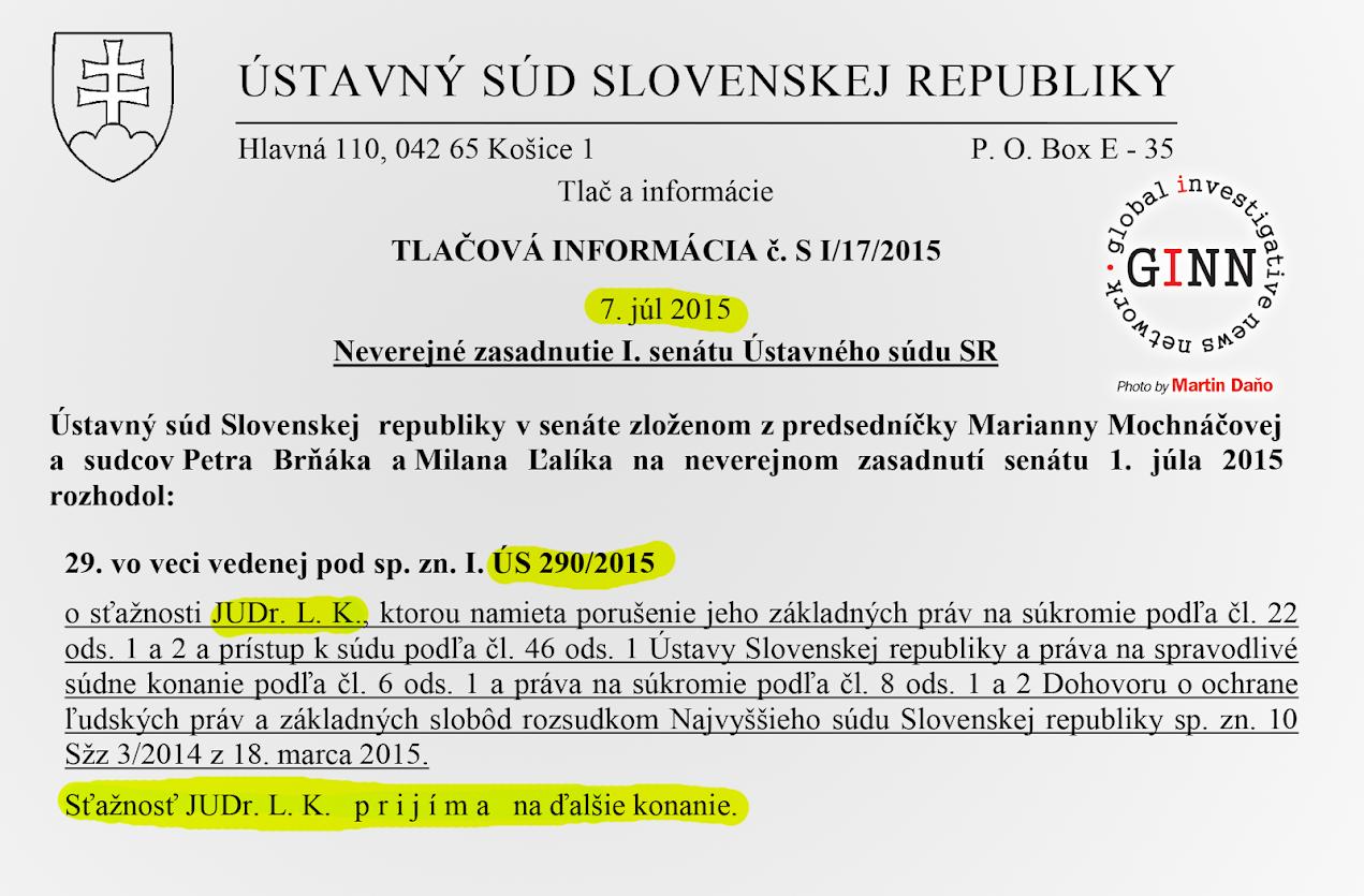 Ústavný súd prijal sťažnosť človeka, ktorého Finančná správa označila ako bieleho koňa - JUDr. Ladislav Klein