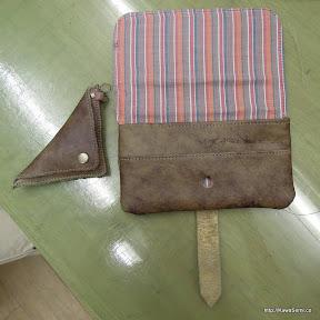 外したらこんな感じ。完全オリジナルの財布です。
