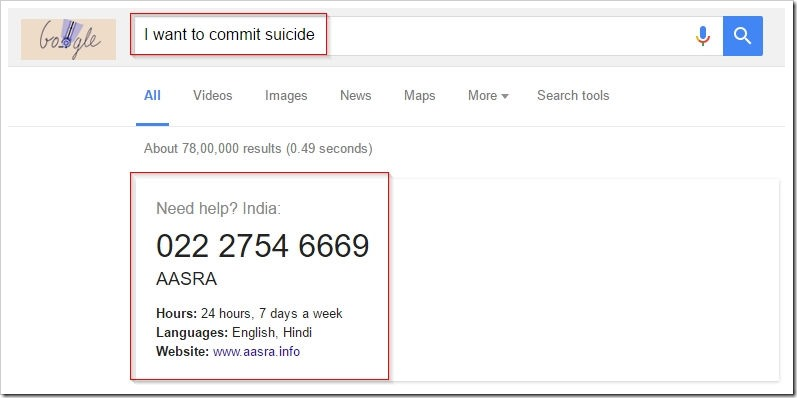 google suicide helpline numbers for each country