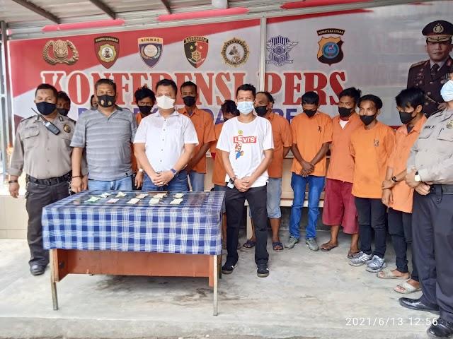 Sesuai Instruksi Kapolri!!!! Polsek Medan Area Berhasil Mengamankan 10 Preman Terkait Pungli