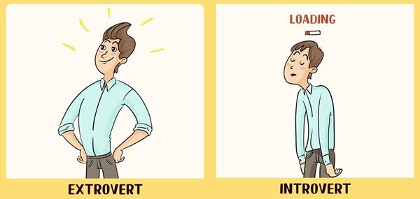 Dupa o zi intreaga de socializare, un extrovertit este încă plin de energie. Pe cind un introvertit este epuizat la maxim.