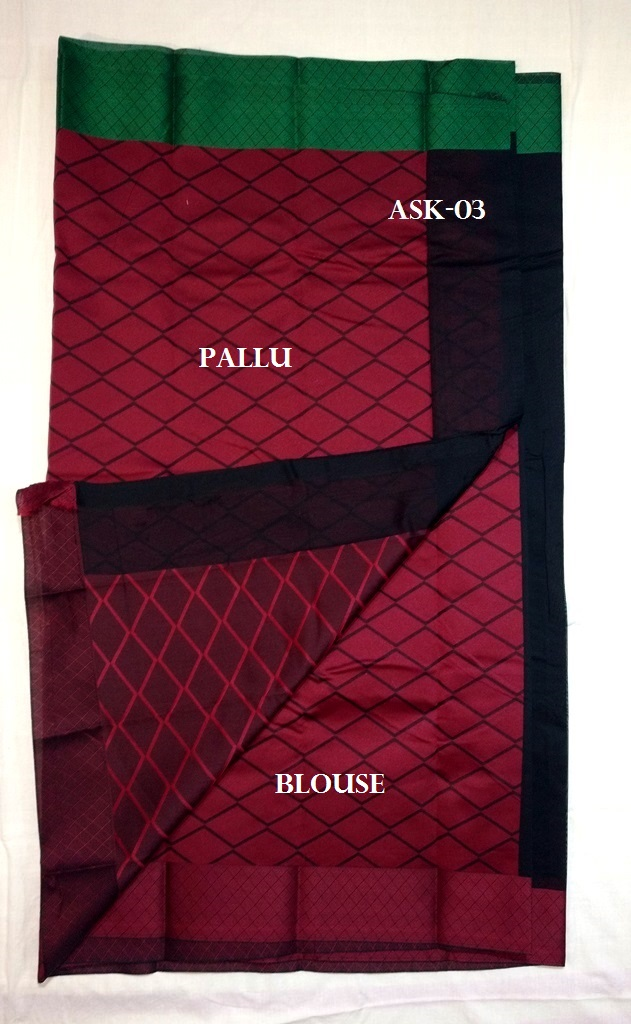 8b084c4384101d Cora cotton sarees with double color fancy border and brocade blouse and  chit pallu. CODE   PB