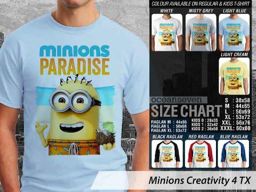 Kaos Kartun Minions Creativity 4 distro ocean seven