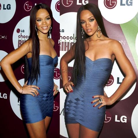 Rihanna in Hervé Léger Dresses