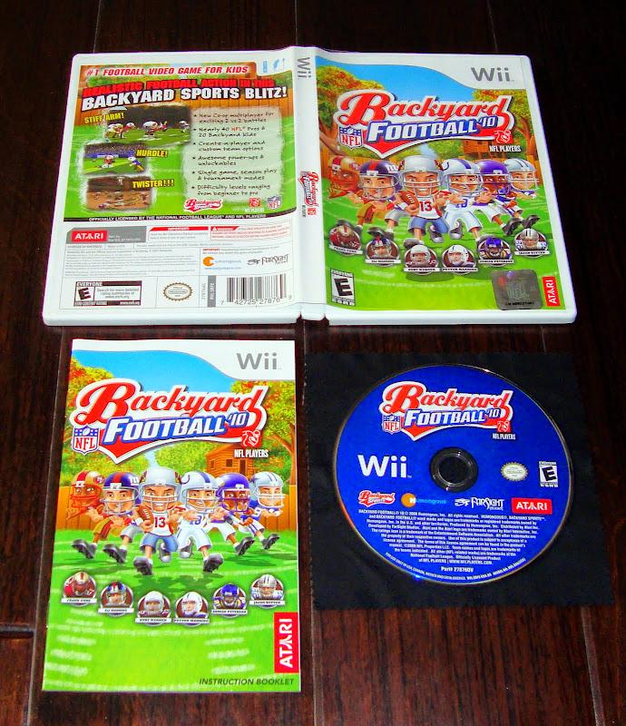 Backyard Baseball 2009: Complete NFL Backyard Football 10 Wii Game