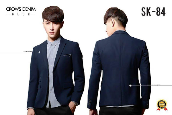 indonesia shop blue skinny blazer