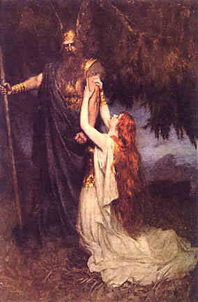 Brunhilde Pleads With Wotan, Asatru Gods And Heroes