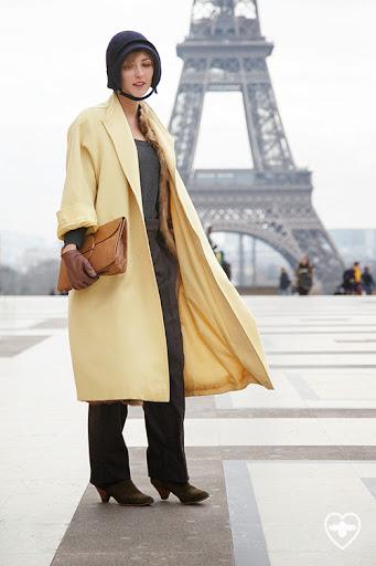 Irene Marinari; production design; Veronica Marucci hat; Frabka Fils coat; Chloe trousers; Sesseun shoes; vintage bag;
