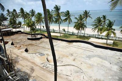Deputy President William Ruto's Hotel Dolphin beach hotel in Shanzu Mombasa to be opened in 1 of October 2019. PHOTO | BANA