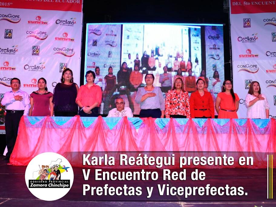 KARLA REÁTEGUI PRESENTE EN V ENCUENTRO RED DE PREFECTAS Y VICEPREFECTAS