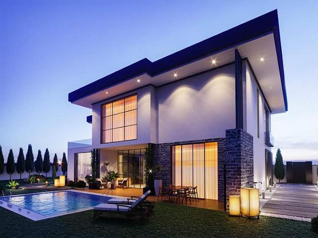 Gambar Desain Rumah Mewah Modern Rancangan Terbaru Gambar Desain Rumah Mewah Modern Rancangan Terbaru