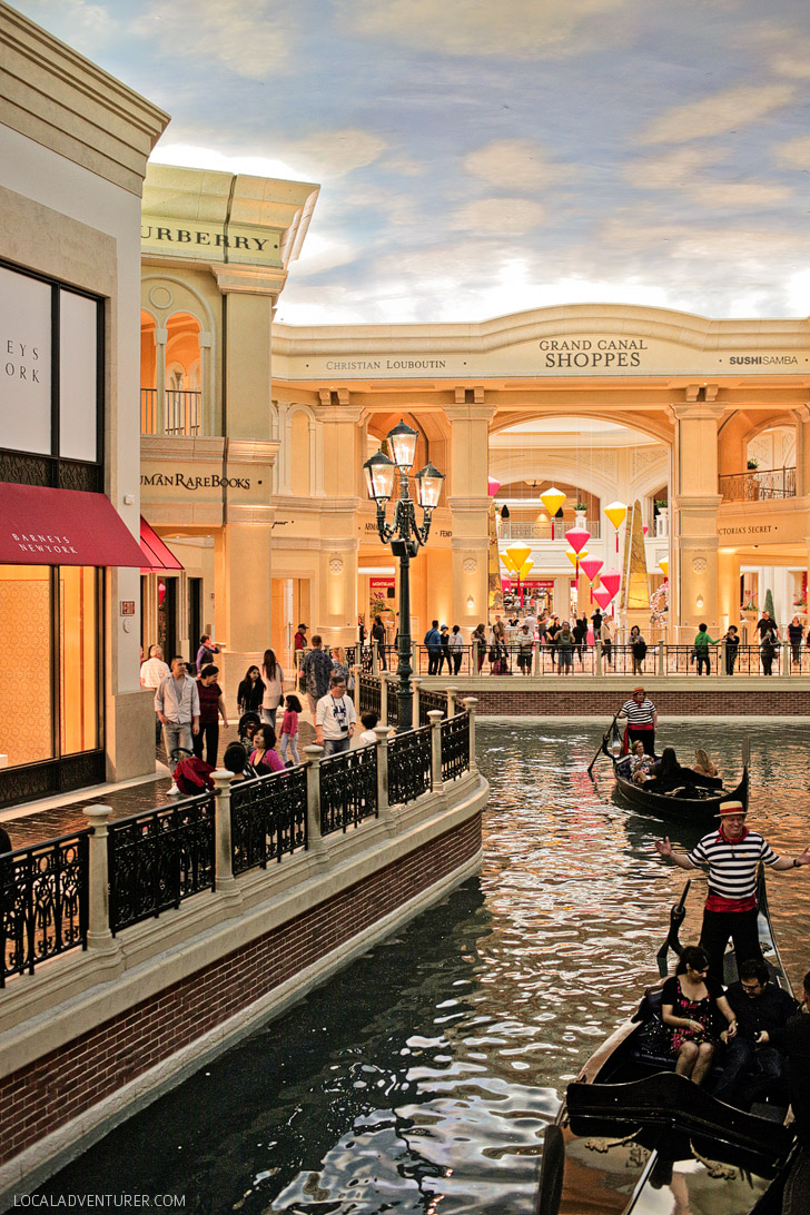 The Grand Canal Shoppes at the Venetian Las Vegas.