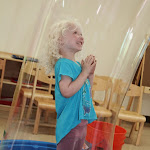 Bubble science is fun! This is one of our many regular in-house field trips, which get children very excited about our Montessori summer camp program.