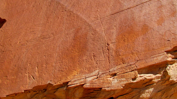 Somewhat crude petroglyphs