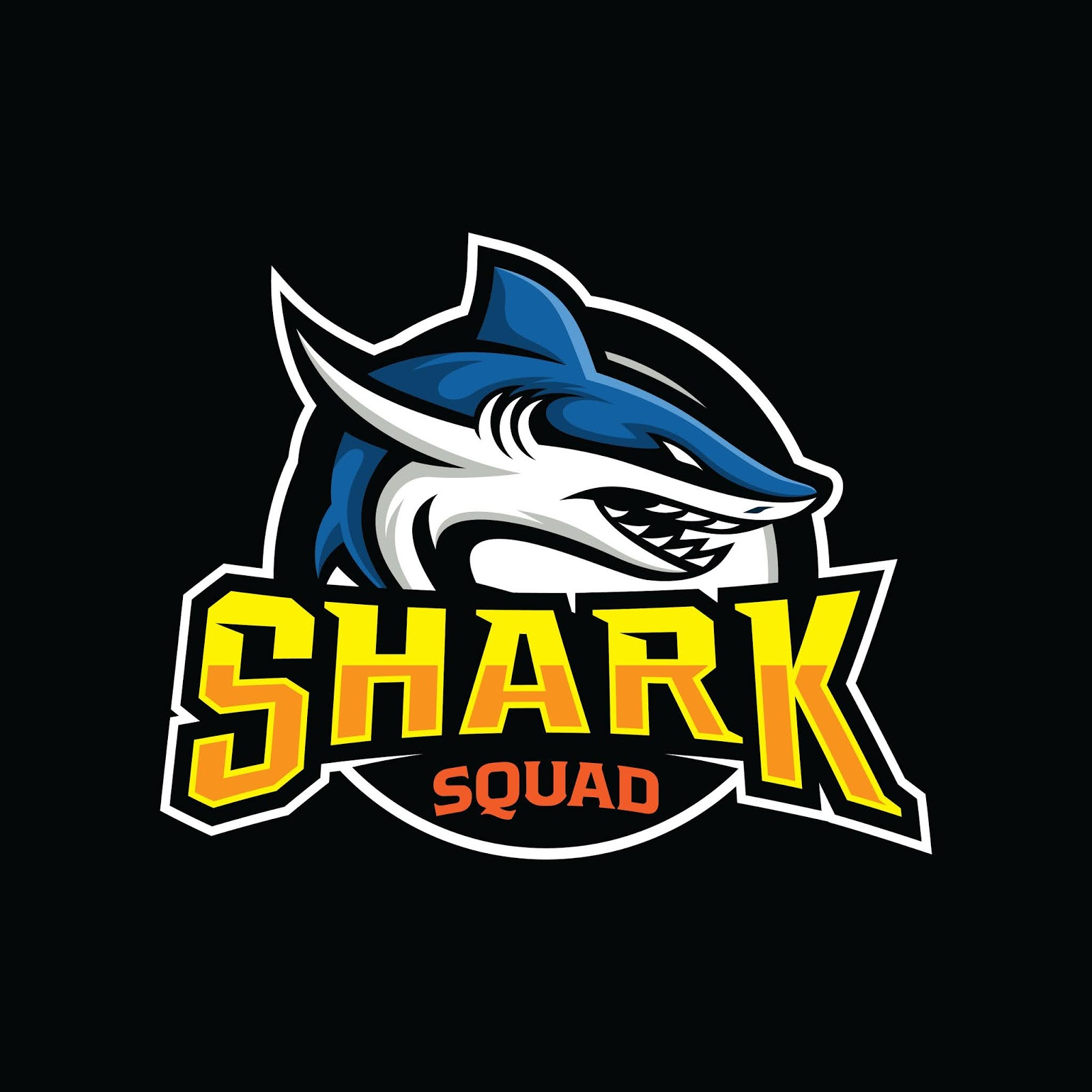 Shark Esport Gaming Mascot Shield Free Download Vector CDR, AI, EPS and PNG Formats