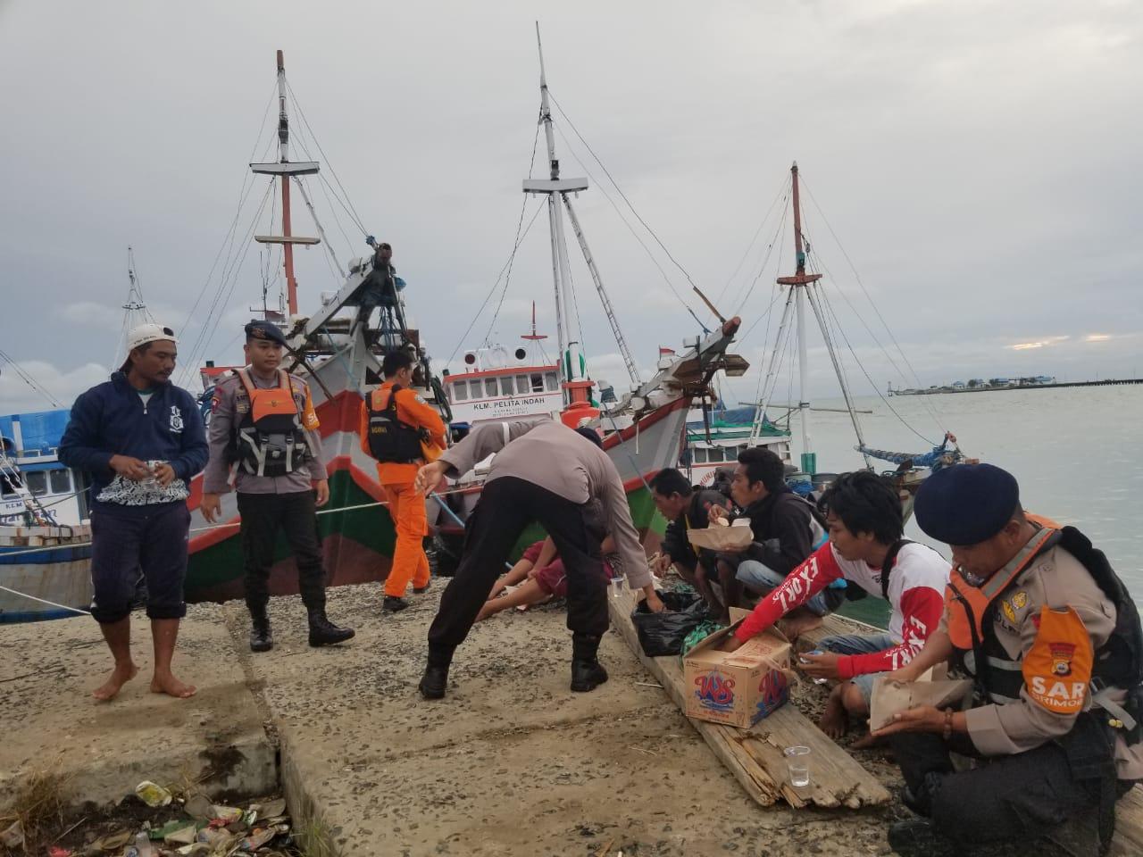 Sinergitas Basarnas, Sat Polair dan Brimob Batalyon C Pelopor Selamatkan Nelayan Terdampar