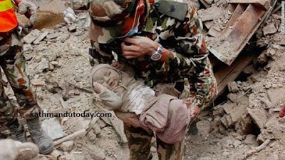 Touching Photos:How Miracle 4 month old baby survived Nepal's earthquake