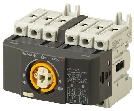 Reservkraftsomkopplare för DIN-skena, Changeover 3x25A