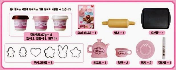 Các dụng cụ nhà bếp của bộ đồ chơi Bộ đồ chơi Làm bánh Cookies bằng bột nặn MiMi World