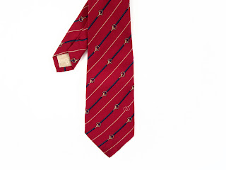 Gucci Red Silk Tie With Buckles