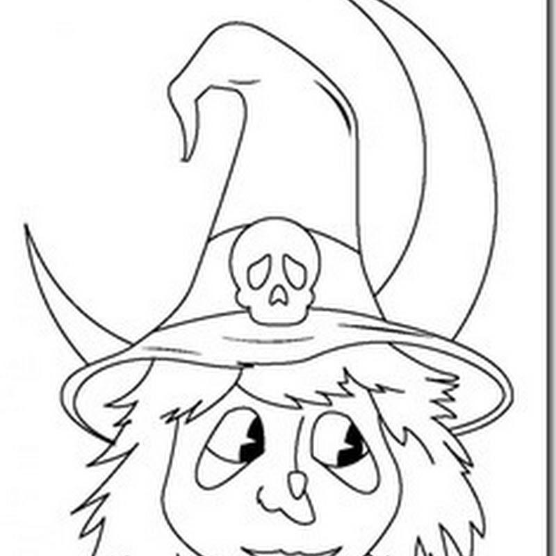 Brujas de Halloween Dibujos para colorear